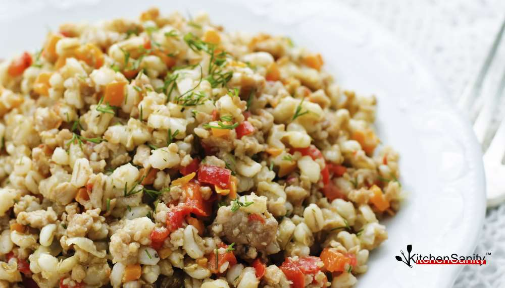 Barley With Meat And Vegetables