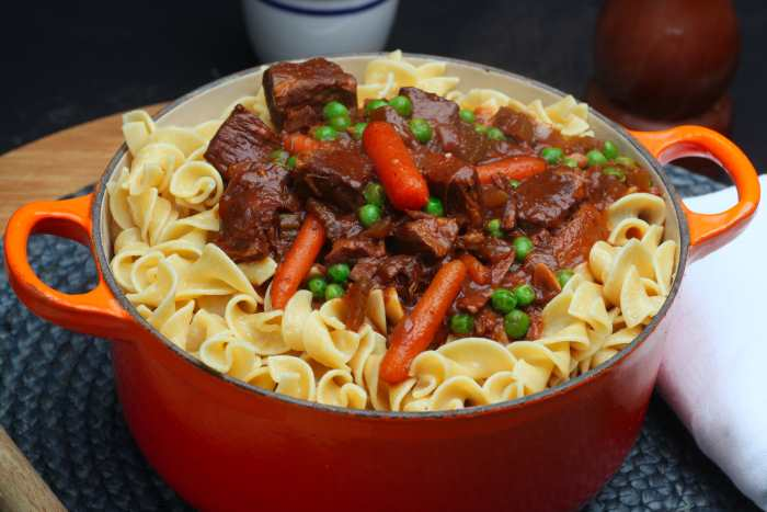 Beef Stew With Egg Noodles