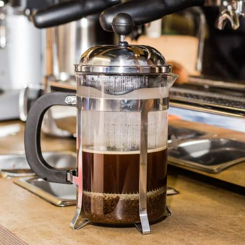 brewed French press coffee