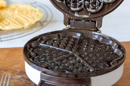buttered waffle maker