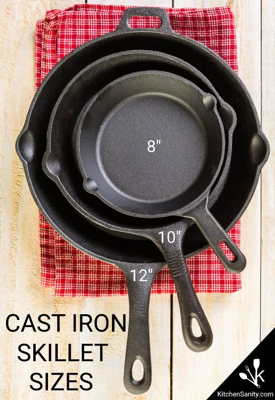 cast iron skillet sizes