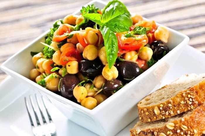 Chickpea Salad With Corn