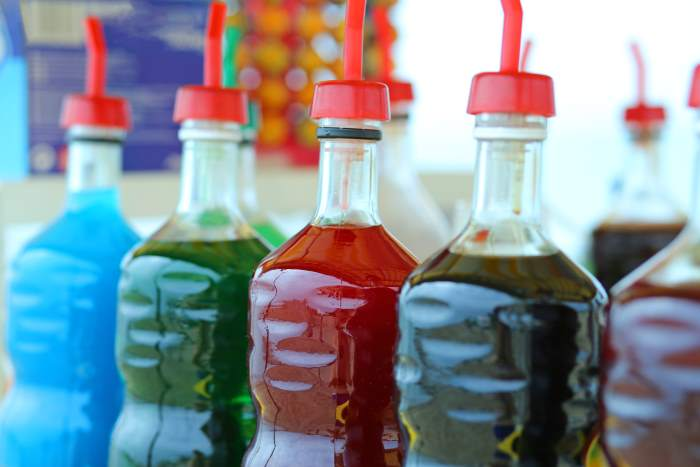 Colored Simple Syrups