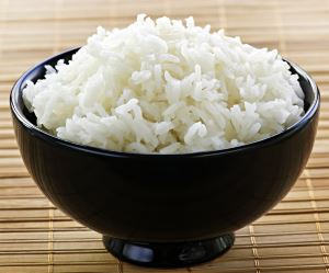 cooked rice bowl