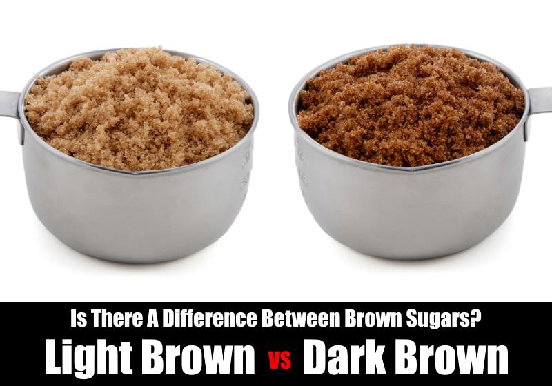 difference between light and dark brown sugar