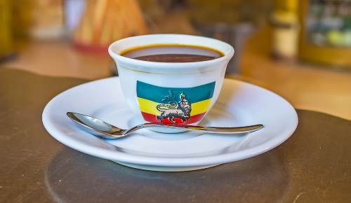 Ethiopian coffee in a cup