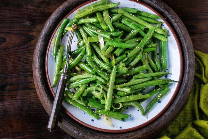 Fried Long Beans With Sesame