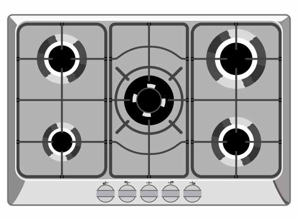 gas range stove top