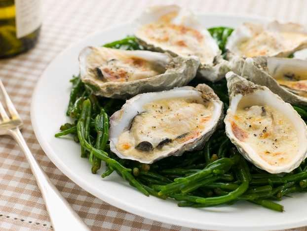 Grilled Oysters With Sauce