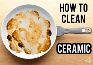 how to clean ceramic pans