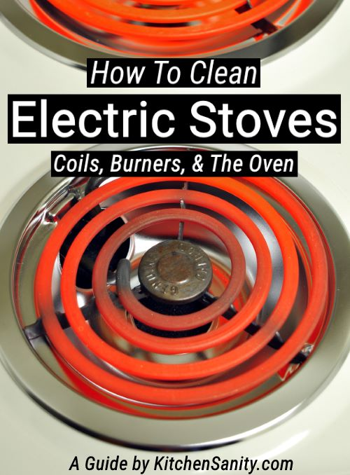 how to clean electric stove