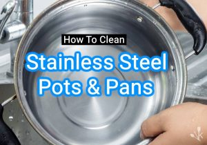 how to clean stainless steel pans