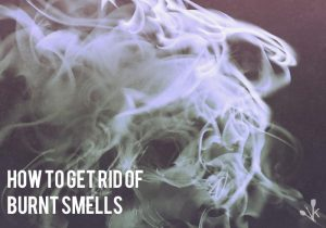 how to get rid of burnt smell in house