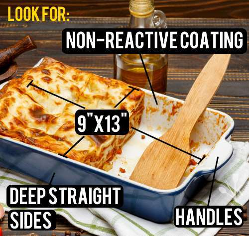 lasagna pan sizes