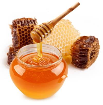 raw honey and comb