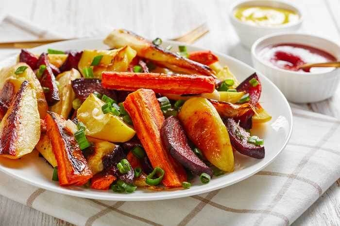 Roasted Vegetables For Crab Cakes