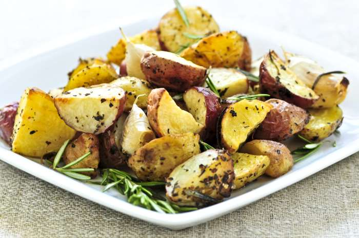 Rosemary Roasted Potatoes For Meatloaf