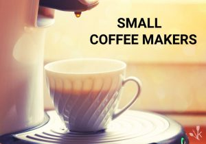 small coffee maker with cup