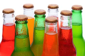 soda in glass bottles