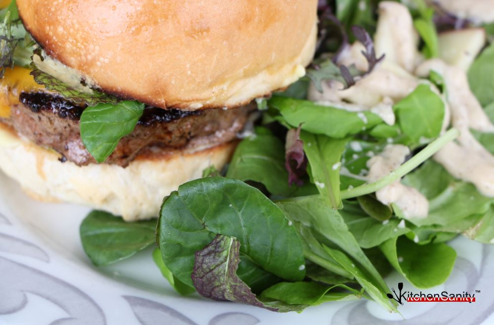 Spinach Salad With Burger