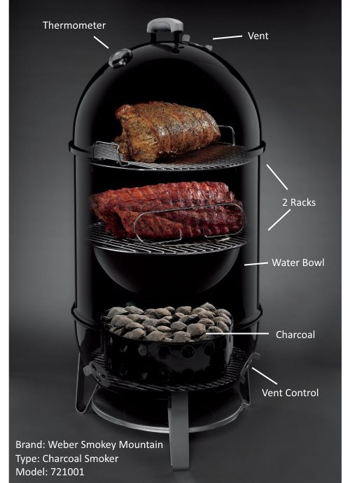 weber smokey mountain charcoal smoker 721001